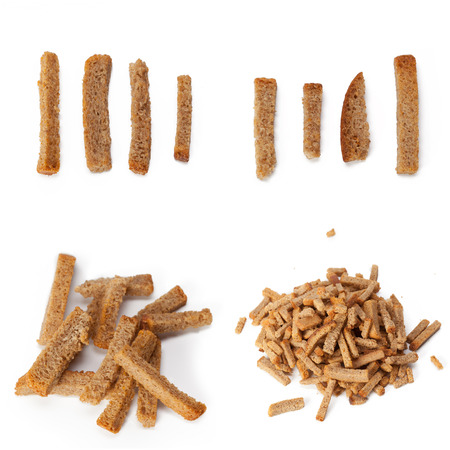dried bread pieces Stock Photo