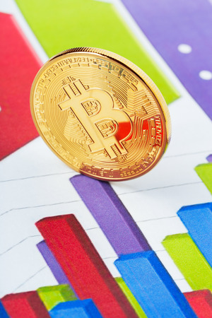 bitcoin crypto currency diagram Stock Photo