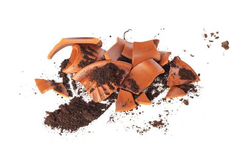 Broken flowerpot Standard-Bild