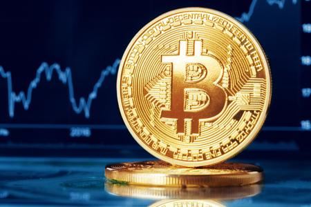 bitcoin crypto currency diagram Stock Photo