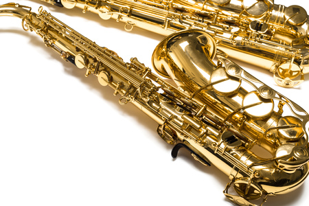 Saxophone Jazz instrument isolated
