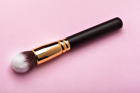 grooming product: Professional make-up brush Stock Photo