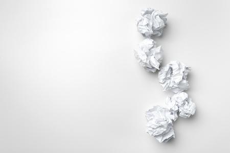 ball of white paper Stok Fotoğraf