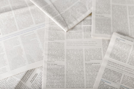 newspaper background, top view Stock Photo