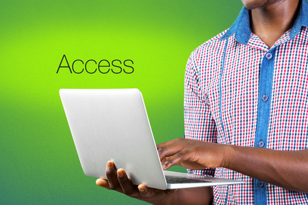 Access text sign Stock Photo