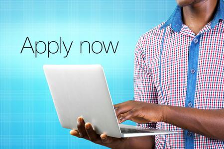 Apply now jobs Stock Photo - 94361822