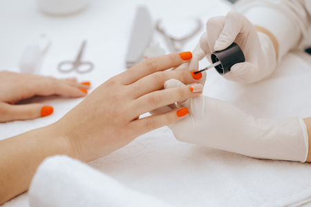 Painting nails Archivio Fotografico