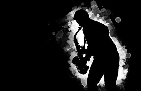 professional saxophonist close up 스톡 콘텐츠