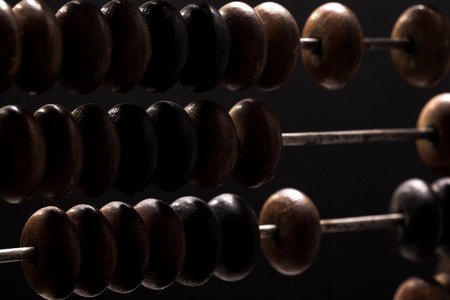abacus close up Stock Photo
