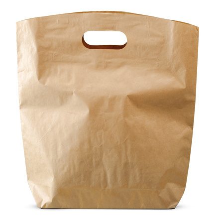 paper bags isolated on white background 写真素材