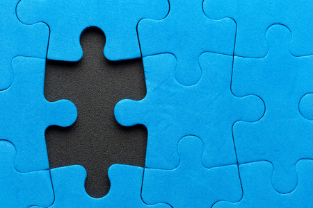Fehlendes Puzzleteil Standard-Bild