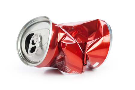 Compressed cans isolated on a white background Banque d'images - 104735296