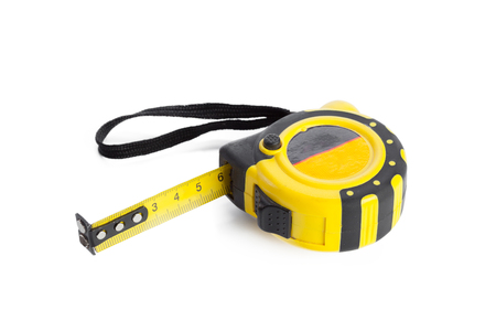Tape measure on white background Banque d'images - 104819048