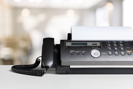 Fax machine in office 写真素材