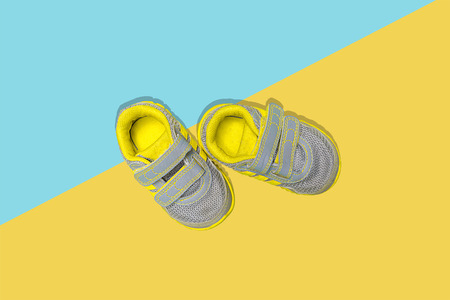 Small Pair of Shoes Isolated Stock Photo