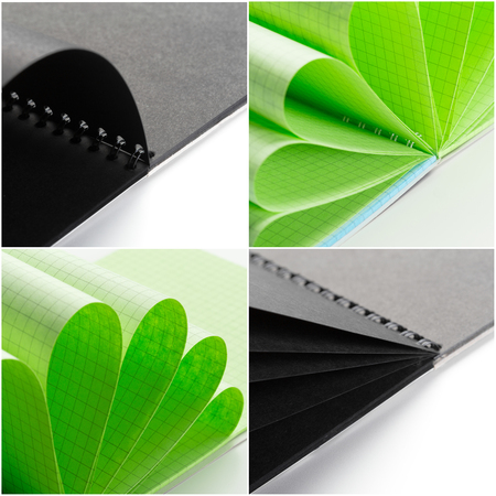 notebook mock up close up collage Stock Photo - 104833578
