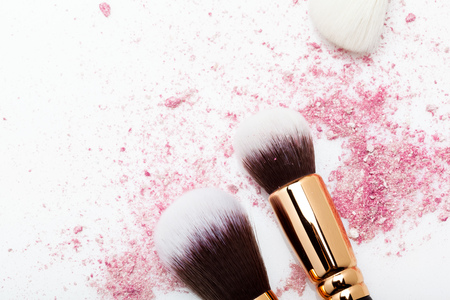 brush and powder Stock Photo