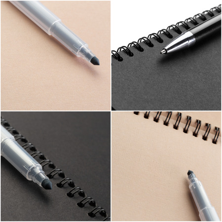 notebook mock up close up collage Stock Photo - 104973593