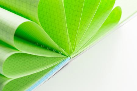 Notebook in closeup shot