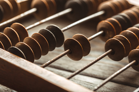 Vintage abacus close up Stock Photo