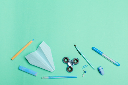 Stationary concept Stock Photo