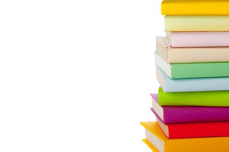 books isolated on white Banco de Imagens