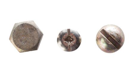 screw isolated on white