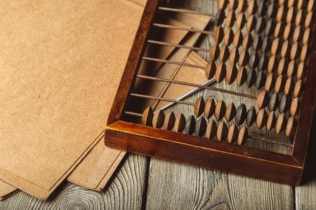 Vintage abacus close up Reklamní fotografie