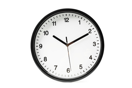 Simple classic black and white round wall clock