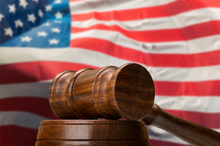 American legislation system and justice concept