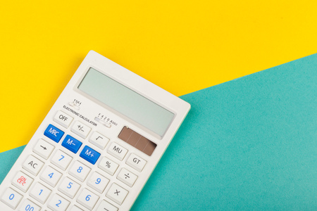 Top view of a calculator isolated Stock Photo