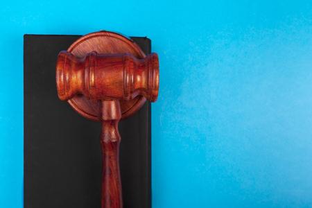 top view of judge gavel