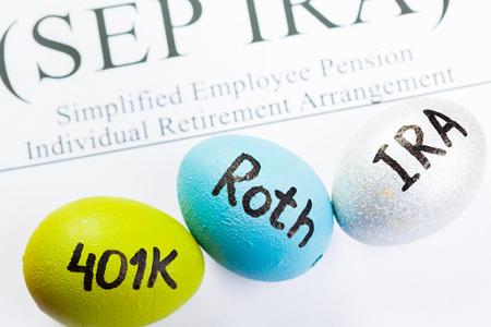 Pension concept.Retirement plans.