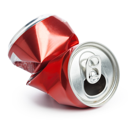 Compressed cans isolated on a white background Banco de Imagens - 106695222