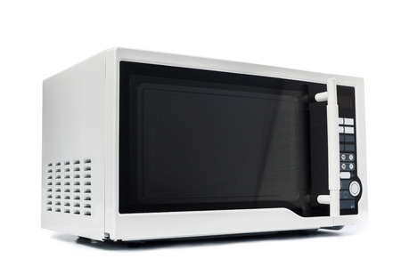 Microwave oven. Isolated on white. 版權商用圖片