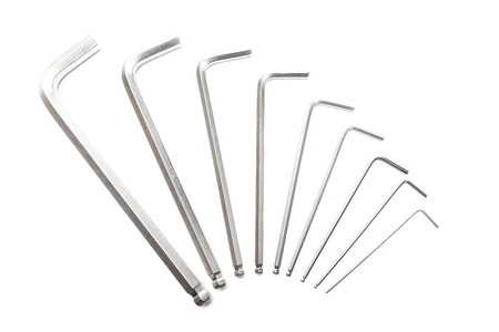 Word from hex keys on white background