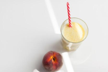 Glass of peach fresh 版權商用圖片
