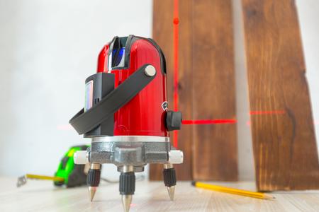 Laser level measuring tool 版權商用圖片