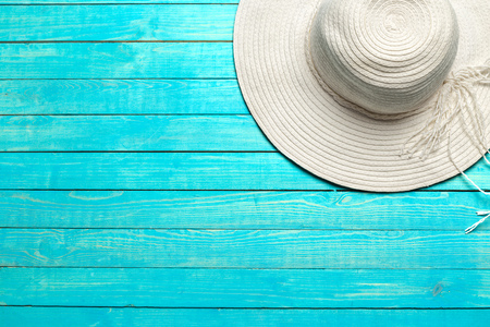 top view of beach hat Stock Photo