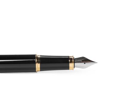 penna stilografica isolato su sfondo bianco
