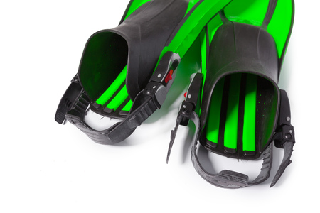 Two flippers for diving Stock Photo