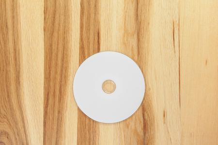 Blank white disk Stock Photo