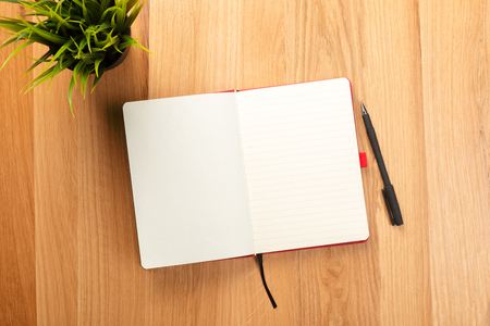 Notebook and pencils Stock Photo