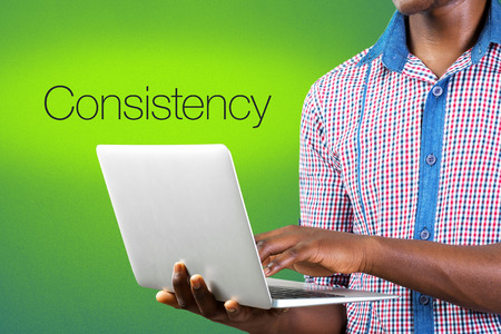 Consistency text business concept