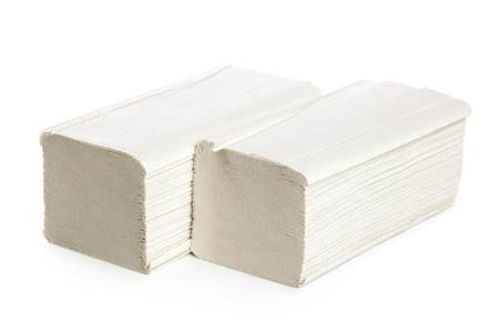 Papierhandtücher stapeln sich Standard-Bild