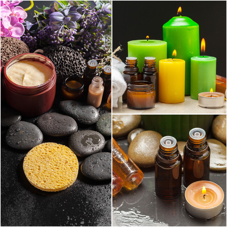 spa concept, collage Imagens
