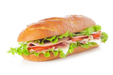 Sandwich auf weißem Hintergrund Standard-Bild - 108766606