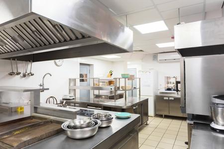 Modern kitchen equipment in a restaurant 스톡 콘텐츠