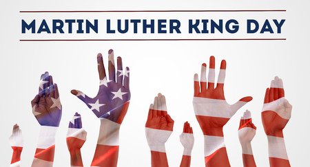 Happy martin luther king day background Stok Fotoğraf