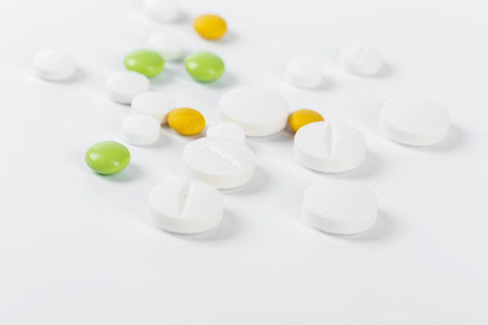 pills isolated on white background.